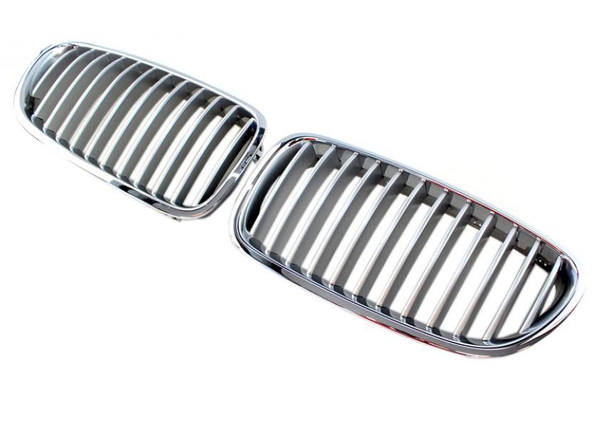Бъбреци хром/сиви за BMW серия 5 F10 седан, F11 комби 2010-2017 2