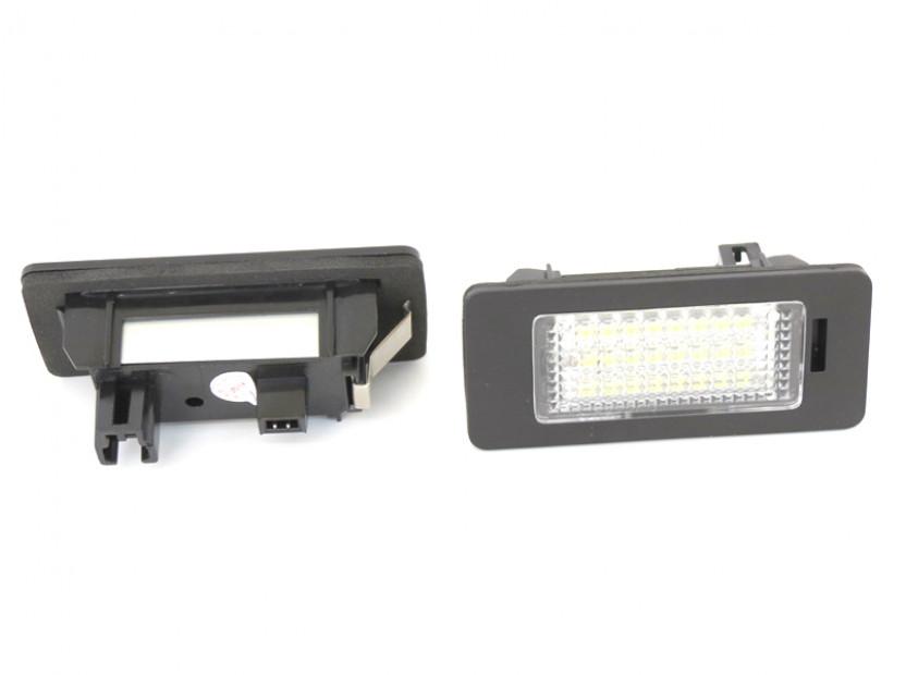 Комплект LED плафони за регистрационен номер за за Audi A1,A4,A5,S5,A6,S6,A7,Q5,TT,TT Roadster, ляв и десен 7
