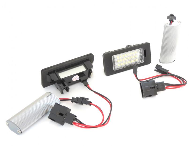 Комплект LED плафони за регистрационен номер за за Audi A1,A4,A5,S5,A6,S6,A7,Q5,TT,TT Roadster, ляв и десен 6