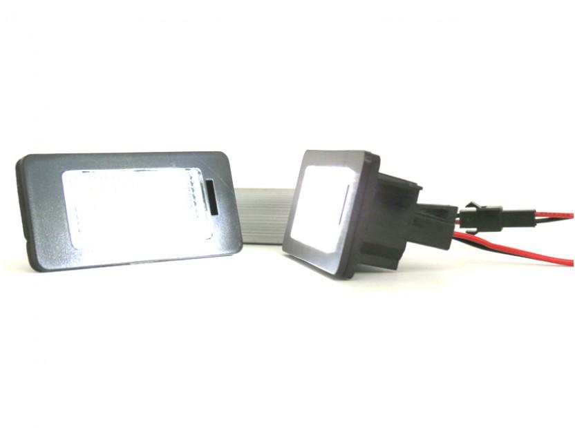 Комплект LED плафони за регистрационен номер за за Audi A1,A4,A5,S5,A6,S6,A7,Q5,TT,TT Roadster, ляв и десен 2