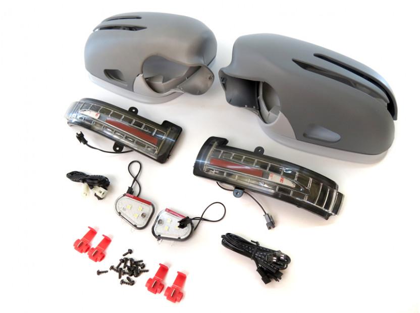 Капаци с LED мигачи за странични огледала за Mercedes E класа W211 2006-2009 13