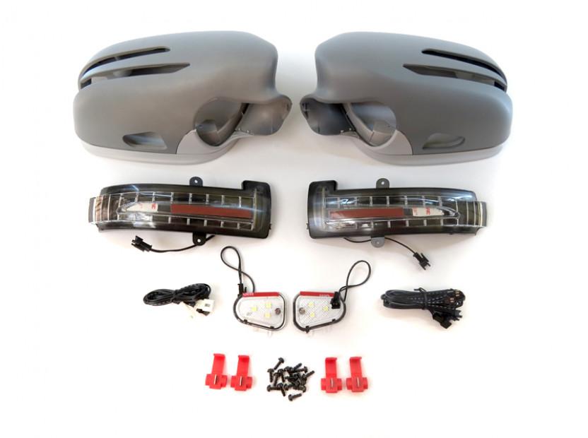 Капаци с LED мигачи за странични огледала за Mercedes E класа W211 2006-2009