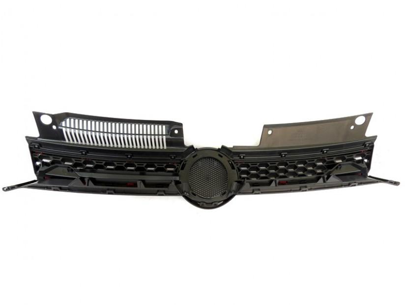 Черна решетка GTI тип пчелна пита за VW Golf VI GTI 2008-2012 6