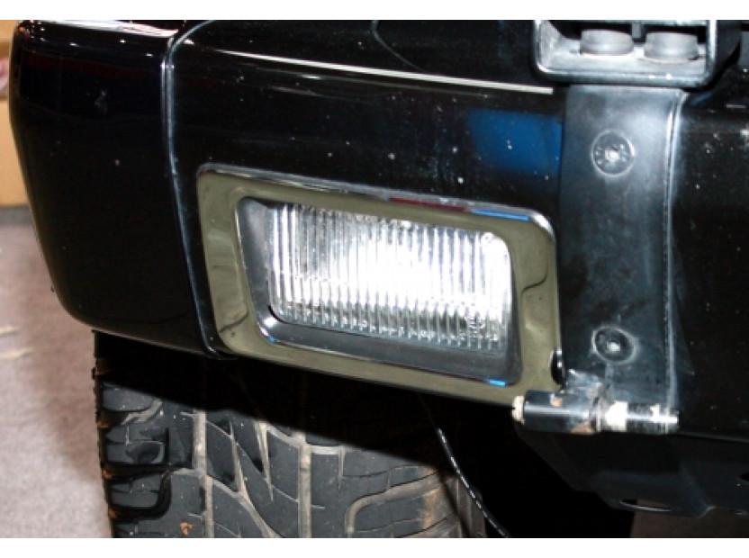 Хром лайсни около халогени (фарове за мъгла) за Mercedes G W463 5