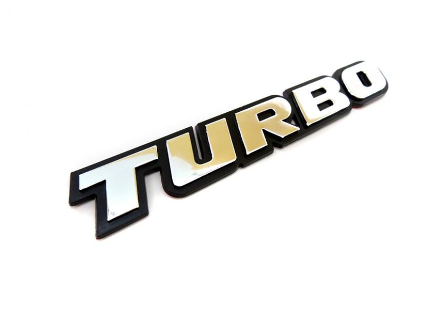Емблема TURBO 18.7 см Х 2.8 см 2