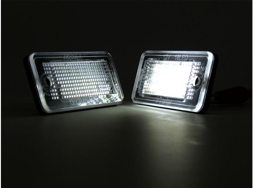 Комплект LED плафони за регистрационен номер за Audi A3,A4,A5,A6,Q7, ляв и десен 5