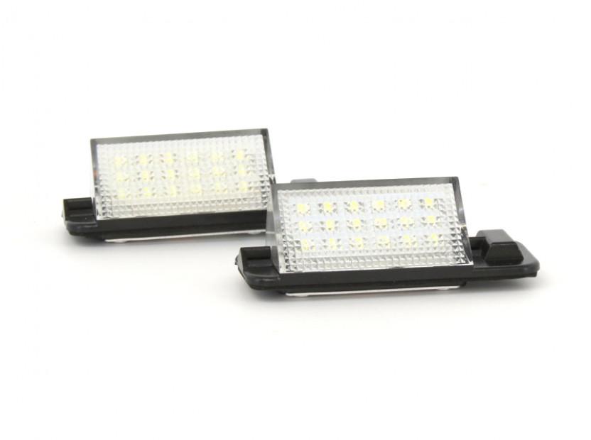 Комплект LED плафони за регистрационен номер за BMW серия 3 E36 седан/купе/комби/компакт 1990-1999, ляв и десен