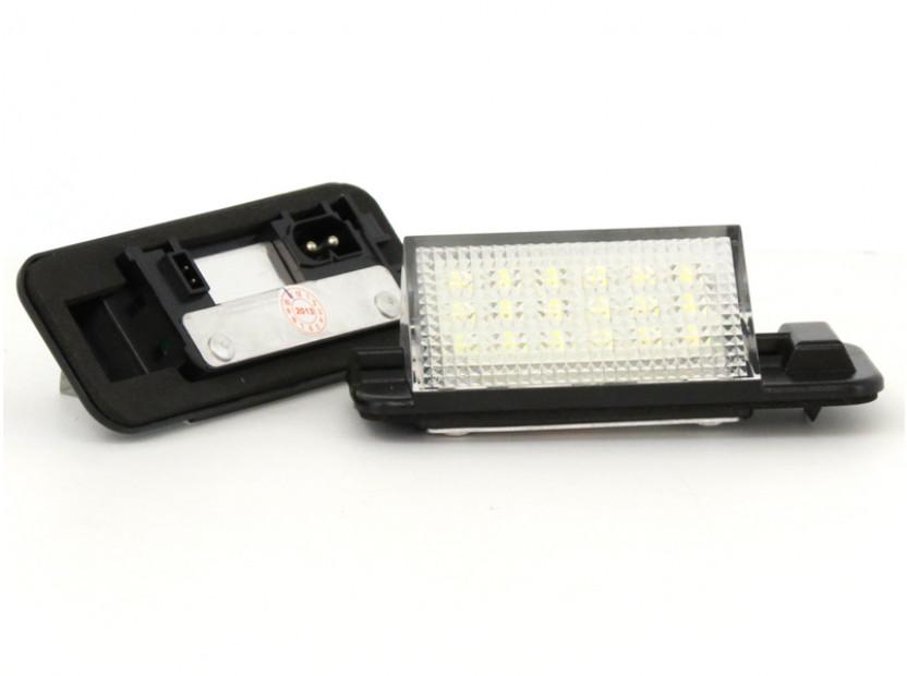Комплект LED плафони за регистрационен номер за BMW серия 3 E36 седан/купе/комби/компакт 1990-1999, ляв и десен 12