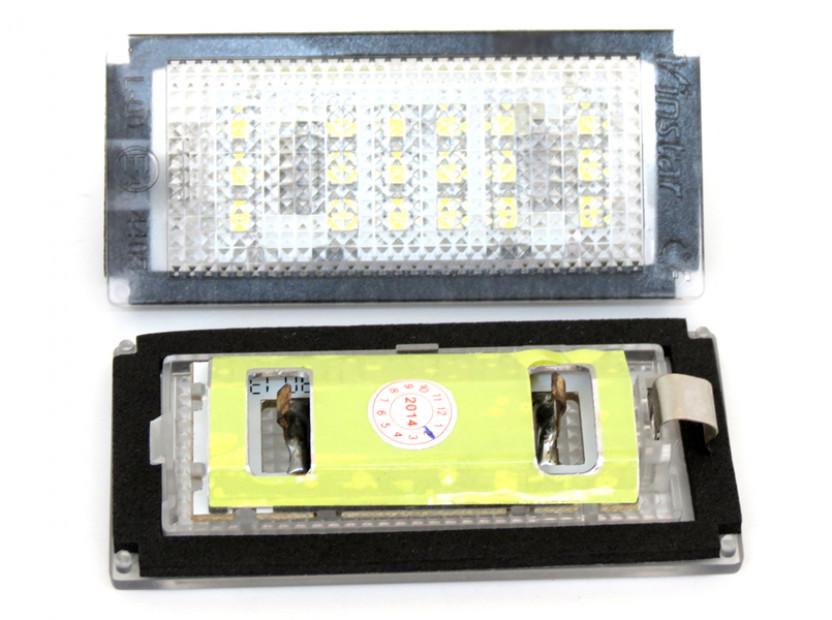 Комплект LED плафони за регистрационен номер за BMW серия 3 E46 купе/кабрио 2003-2006, ляв и десен 7