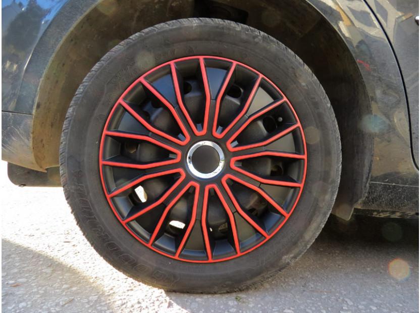 "Декоративни тасове PETEX 14"" Voltec pro black/red, 4 броя 8"