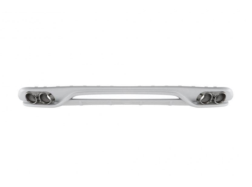 Дифузьор тип ABT с накрайници за стандартна задна броня за Audi A4 2012-2015 седан с двоен отвор/двоен накрайник -оо--оо-