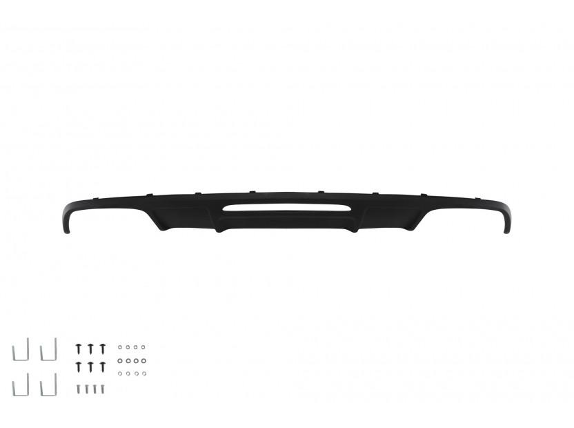 Дифузьор тип CLS63 AMG за стандартна задна броня за Mercedes CLS W218 след 2011 година с двоен отвор/двоен накрайник -оо--оо-