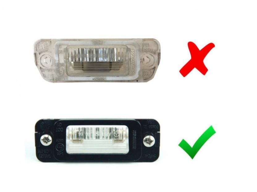 Комплакет LED плафони за регистрационния номер за Mercedes ML W164, GL X164, R класа W251 2006-2011 бензин, ляв и десен 2