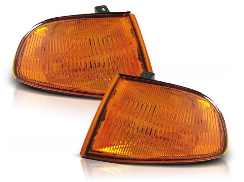 Комплект тунинг мигачи към фара за Honda Civic 2/3 врати 1991-1995 оранжеви ляв + десен