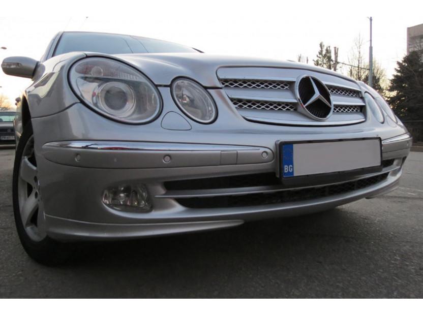 Хром/сива решетка за Mercedes E класа W211 2002-2006 5