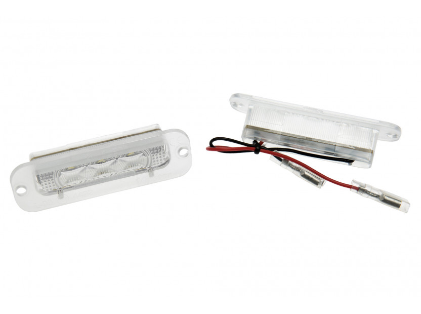 Комплект LED плафони за регистрационен номер за Mercedes G класа W463 G500, G55, G550, ляв и десен