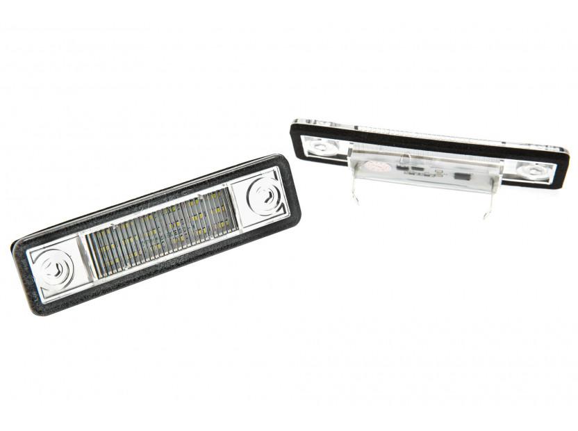 Комплект LED плафони за регистрационния номер за Opel Astra, Corsa, Omega, Vectra, Zafira, Signum, ляв и десен