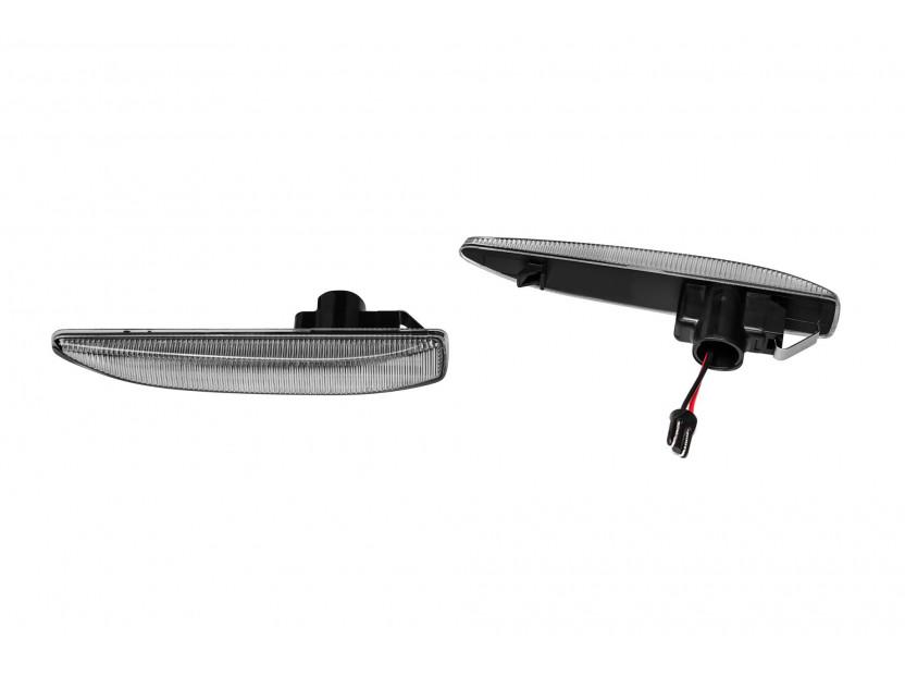 Комплект странични LED мигачи за BMW серия 7 E65,E66,E67 2001-2008 с хром основа, ляв + десен 2