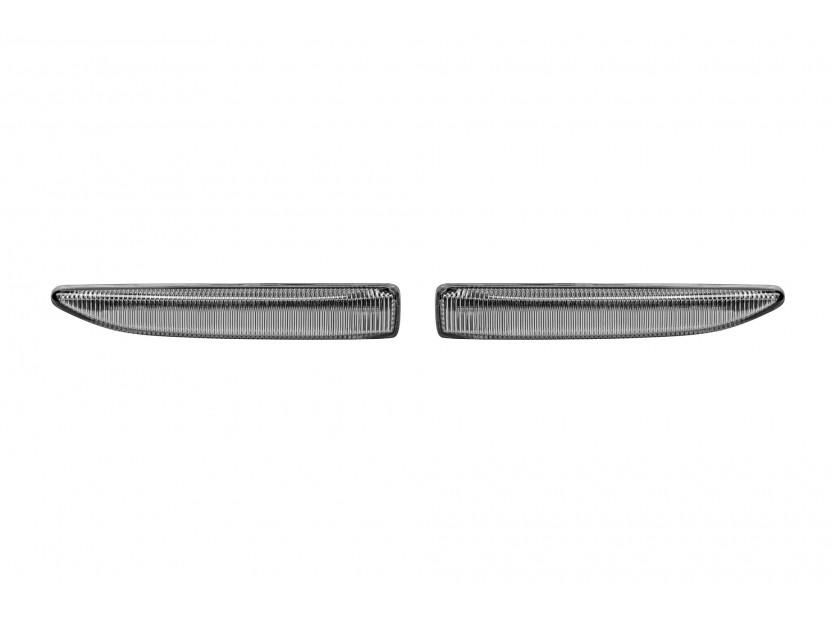 Комплект странични LED мигачи за BMW серия 7 E65,E66,E67 2001-2008 с хром основа, ляв + десен
