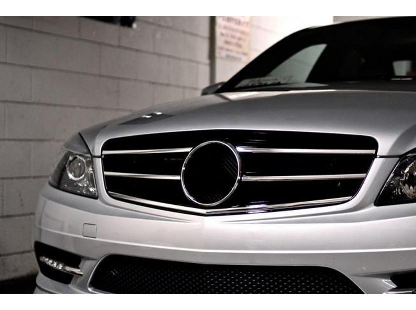Хром/черна решетка тип Avantgarde за Mercedes C класа W204 седан, комби, купе 2007-2014 4