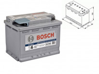 Акумулатор BOSCH AGM-technology S6 12V 60Ah 680 A с десен (+)