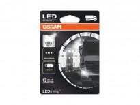 Комплект 2 броя LED лампи Osram тип W5W 6000K, 24V, 1W, W2.1x9.5d