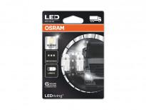 Комплект 2 броя LED лампи Osram тип W5W 4000K, 24V, 1W, W2.1x9.5d