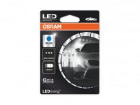 Комплект 2 броя LED лампи Osram тип W5W сини, 12V, 1W, W2.1x9.5d