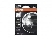 Комплект LED лампи Osram тип W5W 6000K, 12V, 1W, W2.1x9.5d