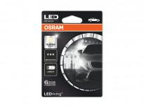 Комплект 2 броя LED лампи Osram тип W5W 4000K, 12V, 1W, W2.1x9.5d