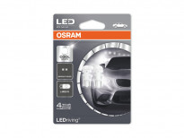 Комплект 2 броя LED лампи Osram тип W5W 6000K, 12V, 0.5W, W2.1x9.5d