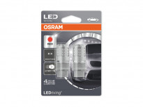 Комплект 2 броя LED лампи Osram тип P27/7W червени, 12V, 3W, W2.5x16q