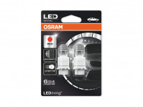 Комплект 2 броя LED лампи Osram тип P27/7W червени, 12V, 1.42/0.54W, W2.5x16q