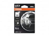 Комплект 2 броя LED лампи Osram тип T4W 6000K, 12V, 1W, BA9s