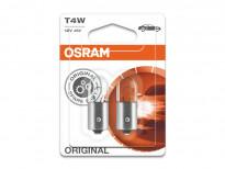 Комплект 2 броя халогенни крушки Osram T4W Original 12V, 4W, BA9s