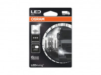 Комплект 2 броя LED лампи Osram тип T4W 6000K, 24V, 1W, BA9s