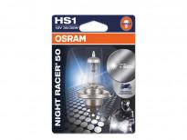 Халогенна крушка Osram HS1 Moto Night Racer 50 12V, 35/35W, PX43t, 1 брой