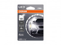 LED лампа Osram тип C5W 31mm., 6000K, 12V, 0.5W, SV8.5-8, 1 брой