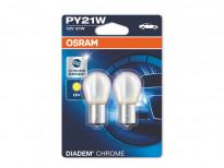 Комплект 2 броя халогенни крушки Osram PY21W Diadem Chrome 12V, 21W, BAU15s