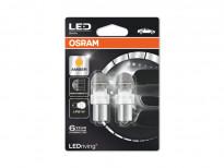 Комплект 2 броя LED лампи Osram тип P21W жълти, 12V, 2W, BA15s