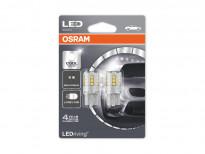 Комплект 2 броя LED лампи Osram тип W21/5W 6000K, 12V, 2.5W, W3x16q