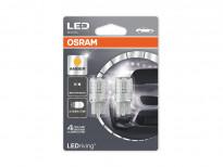 Комплект 2 броя LED лампи Osram тип W21/5W жълти, 12V, 1W, W3x16q