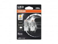 Комплект 2 броя LED лампи Osram тип WY21W жълти, 12V, 1.5W, W3x16d