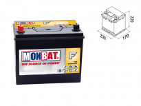 Акумулатор Monbat Formula JIS 60Ah 450 A с ляв (+)