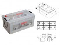 Акумулатор BOSCH TECMAXX 12V 225Ah 1150 A с с ляв (+)