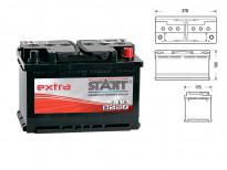 Акумулатор Start Extra 75 Ah 680 A с десен (+)