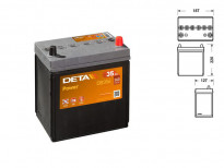 Акумулатор Deta Power 35Ah 240 A с десен (+)