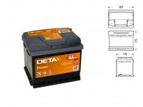 Акумулатор Deta Power 44Ah 420 A с десен (+)