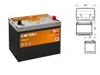 Акумулатор Deta Power 70Ah 540 A с десен (+)