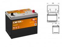 Акумулатор Deta Power 70Ah 540 A с десен (+)